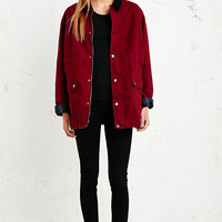 BDG Hunting Jacket in Burgundy - Urban Outfitters