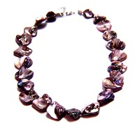 Iridescent Mother of Pearl Natural Stone Necklace
