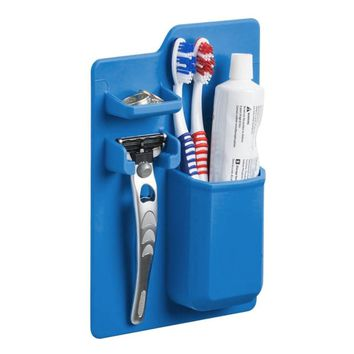 Nifty New Silicone Bathroom Organizer Toothbrush, Toothpaste and Razor Holder