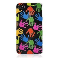 Handprint Ultrathin And Transparent Phone Case For iPhone 4/4s