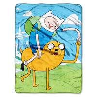 Adventure Time - Fist Pump Micro Raschel Throw (46in x 60in)