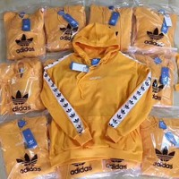 Adidas Originals Tnt Tape Pullover Hoodie In Yellow