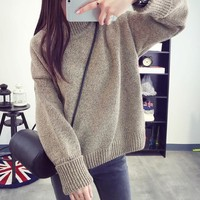 Bottoming Shirt Sweater Knit Tops Jacket [9138776775]