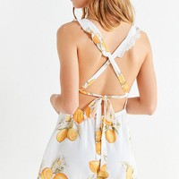 For Love & Lemons Lemonade Romper | Urban Outfitters
