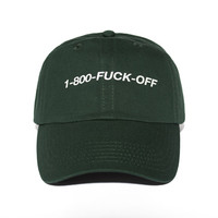 1-800-FUCKOFF Hat - Forest Green
