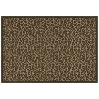 Couristan Captivity Leopard Indoor Outdoor Rug (Beige/Khaki)