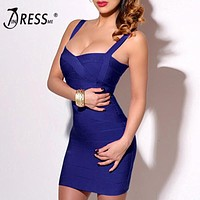 2017 Sexy Mini Spaghetti Strap Bodycon Strapless Club Party  Bandage Women Dresses