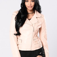 Who's That Girl Jacket - Mauve