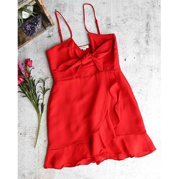 cotton candy la - lucy dress -  red