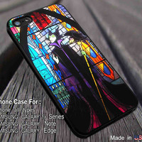 Maleficent Stained Glass Disney Sleeping iPhone 6s 6 6s+ 6plus Cases Samsung Galaxy s5 s6 Edge+ NOTE 5 4 3 #movie #maleficent dl2