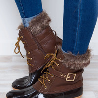 Nordica Duck Boots - Chocolate