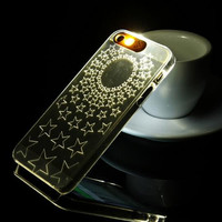 Star LED call flash phone case for iphone 5 5s SE + Nice gift box 072702