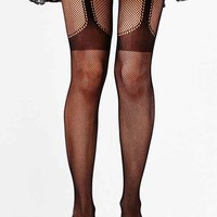 Garter Fishnet Tight- Black