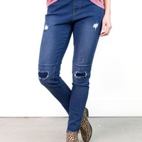 Brent Patch & Distressed Jeggings