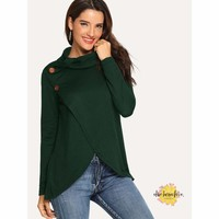 Wrapped Button Blouse