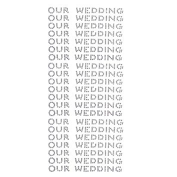Our Wedding Rhinestone Stickers, 1/2-Inch, 140-Count, Silver