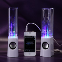 USB LED Light Dancing Water Show Speaker Music for PC Laptop White