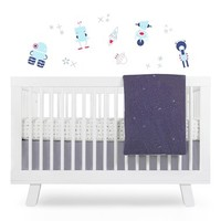 Infant babyletto 'Galaxy' Crib Sheet, Crib Skirt, Changing Pad Cover, Play Blanket & Wall Decals - Grey
