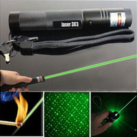 Powerful 303 Green Laser Pointer Pen Adjustable Focus 532nm Lazer Visible Beam [8270581377]