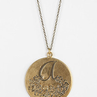 Etched Initial Pendant