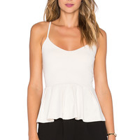 Susana Monaco Casey Tank in Blanched Almond