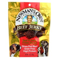 Newman's Own Organics Beef Jerky Treats For Dogs - Beef And Sweet Potato - Case Of 12 - 5 Oz.