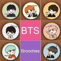 KPOP BTS Brooches