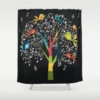 Song Birds Shower Curtain by Digi Treats 2 | Society6