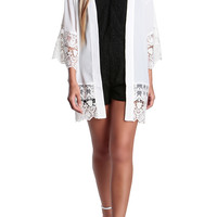 Faith Lace Kimono-FINAL SALE