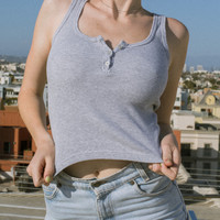 Dalis Button Tank - Tanks - Tops - Clothing
