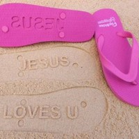 Jesus Loves You Flip Flops by Flipside Flip Flops