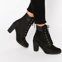 Timberland Glancy Black 6in Heeled Boots