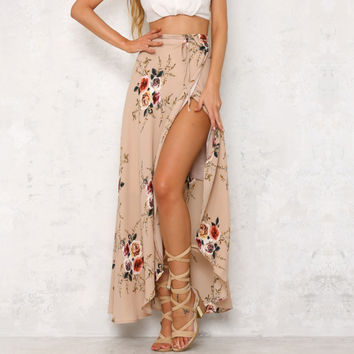 Bohemia Vacation Split Dress Skirt [10573279558]