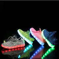 New Fashion Light Up Kids Led Shoes Luminous Girl Boys Shoes Glowing Sneakers Casual With Sole Charging For Kids Shoes