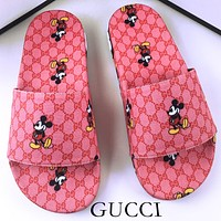 Gucci Mickey Sandals 2020 New Lightweight Outsole Loose Comfortable Slipper Men Shoes