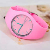 Women Sports Watch Silicone Candy Colored Watches Quartz Watches