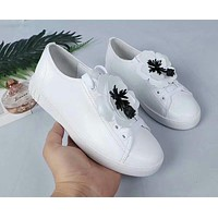 Prada Miu Miu White Sneakers With White Flower