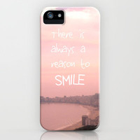 There is always a reason to smile iPhone Case by Louise Machado