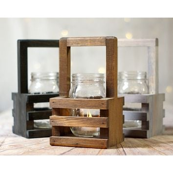 6 Wood Box Centerpiece Bulk, Wishing Well Basket