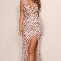 Fay Sequin Luxe Gown