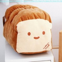 """Small Ver. Dual Face Bread Plush Cushion Pillow 10"""" Decoration Good Gift for Every Special Day"""