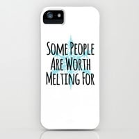 Some People Are Worth Melting For- Frozen (Olaf) iPhone & iPod Case by Lauren Ward