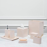 Lacca Blush Bath Accessories by Kassatex