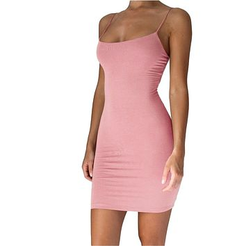 felainse29 hot style hot sale solid color strapless sexy sling dress women