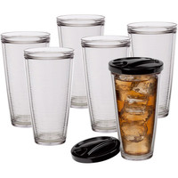 Walmart: Creative Bath Insulated 22-Ounce Tumblers with Lids, Set of 6