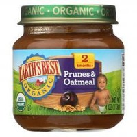 Organic Prunes and Oatmeal Baby Food - Stage 2 - Case of 12 - 4 oz.