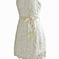 Faironly S4 Sexy Mini Short Formal Prom Dress Party Gown (M, Ivory)