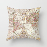 An Accurate Map Throw Pillow by Catherine Holcombe