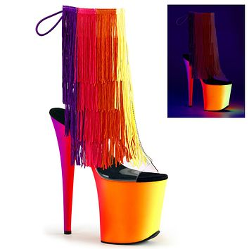 "Rainbow 1017-8 Fringe 8"" Heel Ankle Boot NEW"