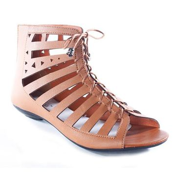FIORE CUTOUT SANDALS - TAN